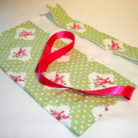 DPN/Crochet Hook Envelope/Roll-Green Polka Dot