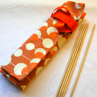Knitting  DPN  Roll-Orange Circle