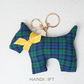 Oversized Scottie Charm: Blue tartan
