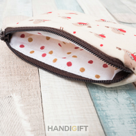 Little Robins Print Coin Purse