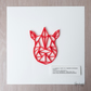 3D Geometric Art Print-  Rhinoceros