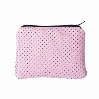 Upcycled Tie Coin Purse : pink polka