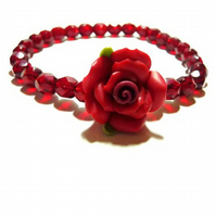Stretch Beaded Bracelet -  Rosetta Blooms