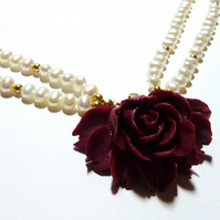 ***Reserved for the lovely LilGuys*** Vintage Freshwater Pearl Necklace - The Thorny Temptress