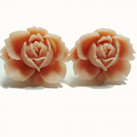 Flower Clip-on Earrings - My Sweet Rose ***reserved for the lovely Charlotte!***
