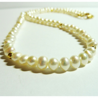 Vintage Freshwater Pearl Necklace - Pearl