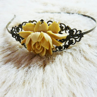 Rose Headband - If You Go Down To The Woods Today....
