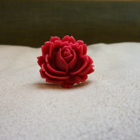 Raspberry Kisses - Fuchsia Pink Cabbage Rose Ring