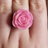 Pretty As a Rose - Pink Rose Ring