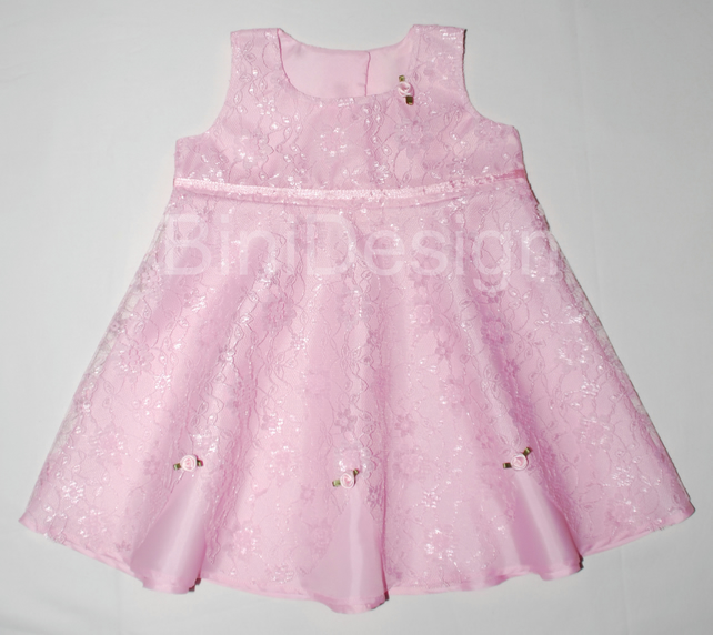 Handmade Baby girl lace party dress 0-3 months - Folksy