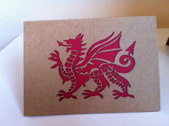 Welsh Dragon Card