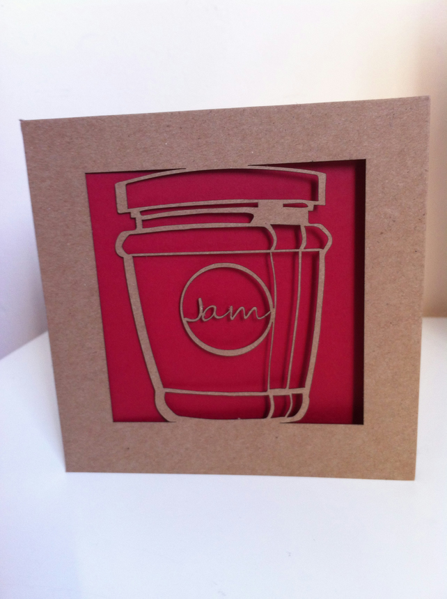 Jam Jar Cut Card
