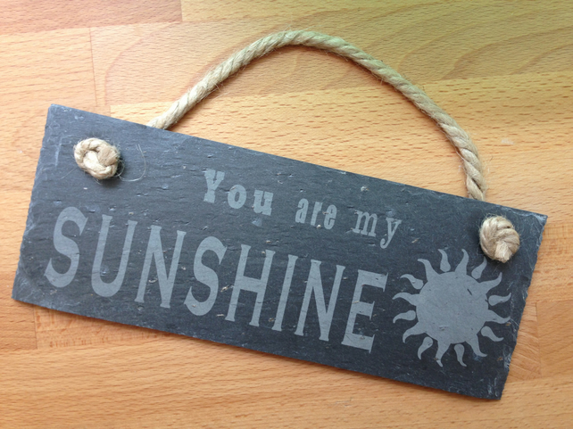 CUSTOM ORDER - Slate Hanging Sign