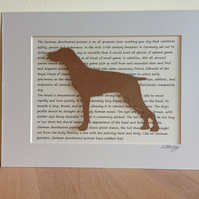 Mounted German Short Haired Pointer Silhouette Dog Picture