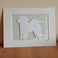 Mounted Bichon Frise Silhouette Dog Picture