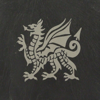 Welsh Dragon Welsh Slate Coaster