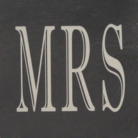 """Mrs"" Welsh Slate Coaster"