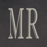 """Mr"" Welsh Slate Coaster"
