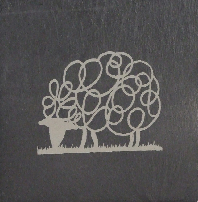 Sheep Welsh Slate Coaster