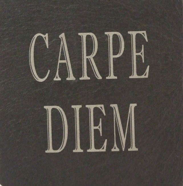 Carpe Diem (Seize the Day) Welsh Slate Coaster