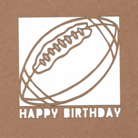 Rugby Birthday Card