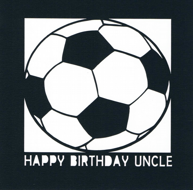 Football Happy Birthday Uncle Card