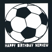 Football Happy Birthday Nephew Card