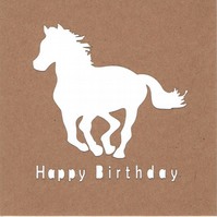 Birthday horse card