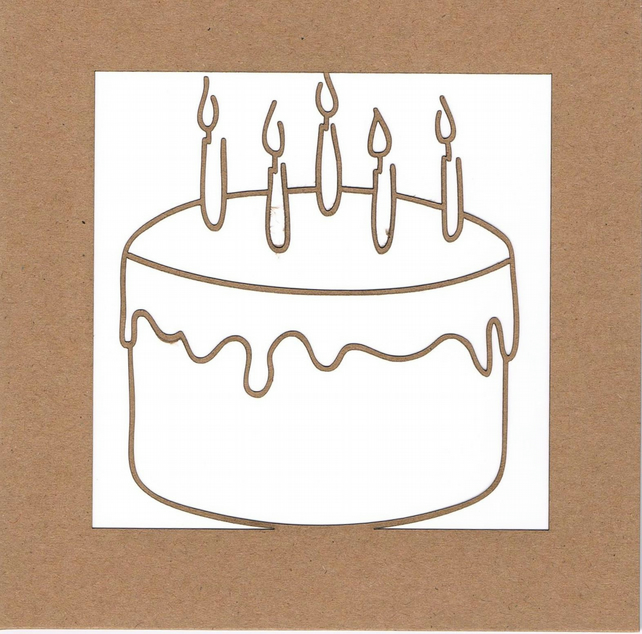 Birthday cake with candles card