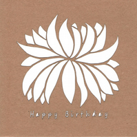 Happy Birthday Chrysanthemum Flower Card