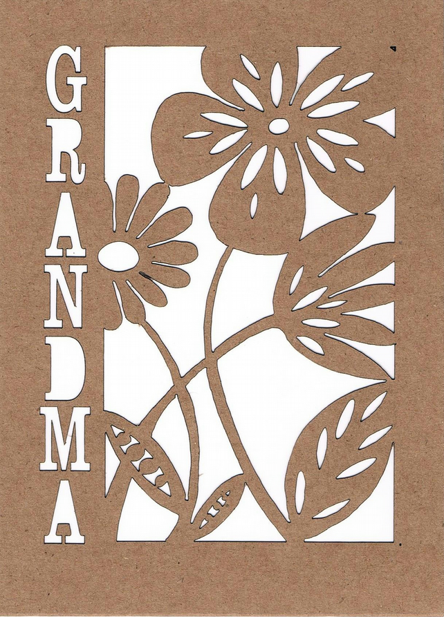 Happy Birthday Grandma Flower card
