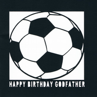 Football Happy Birthday Godfather Card