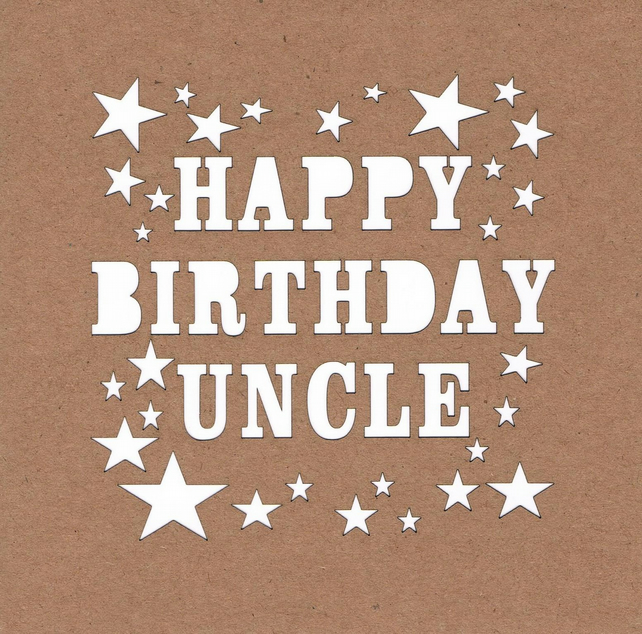 Happy Birthday Uncle Stars Card