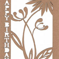Happy Birthday Flower card (1092)