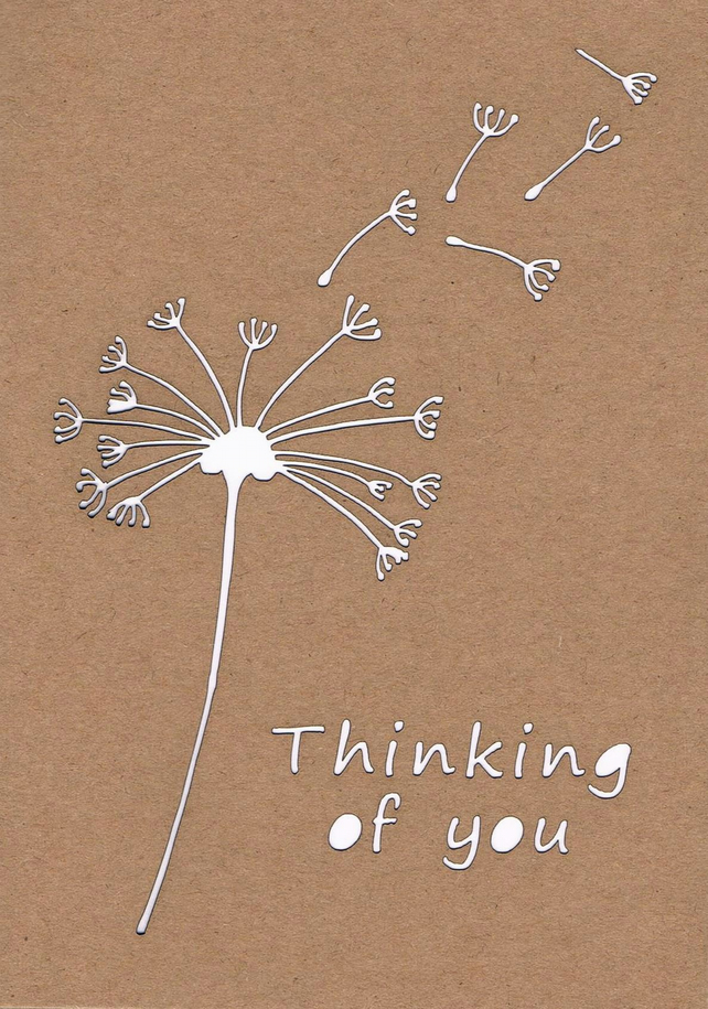 Dandelion Thinking of you card