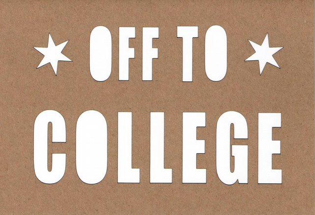 Off to college card