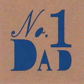 No. 1 Dad Card