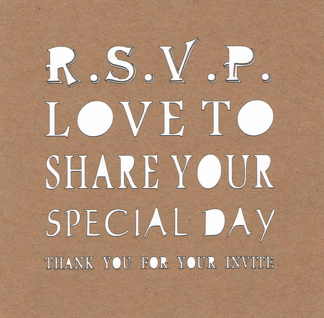 RSVP - Love to share your special day - Card