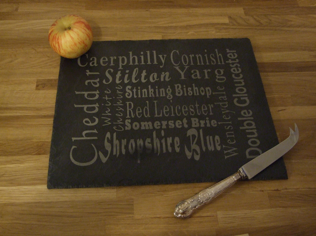 Welsh slate cheese board