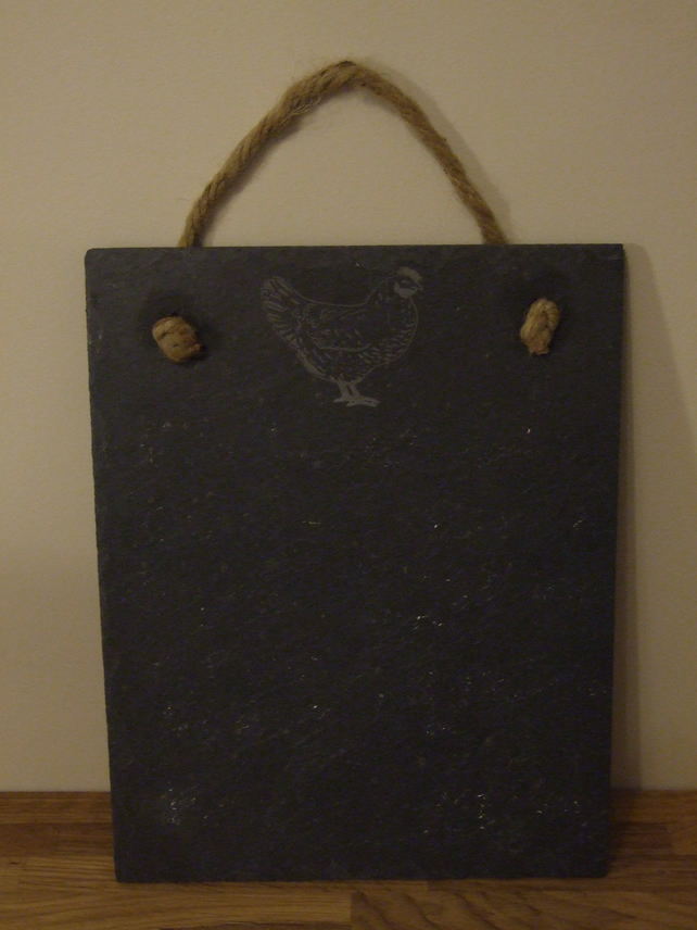 Welsh slate memo board (chicken)