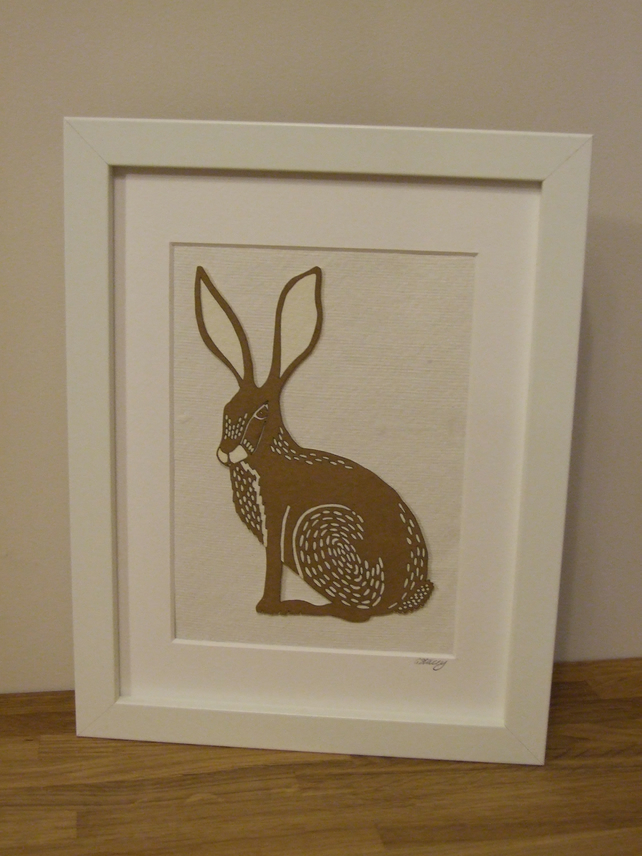 Framed Hare picture