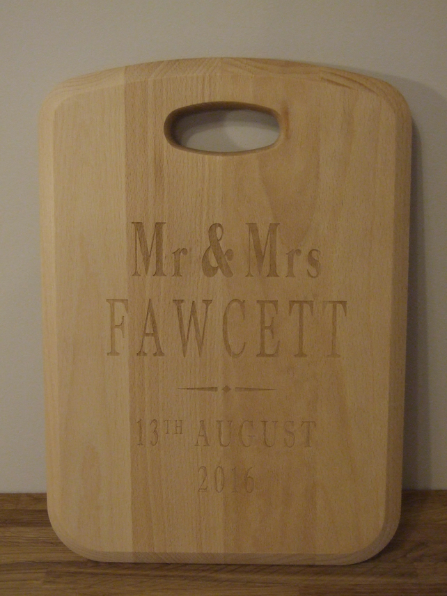 Solid beech chopping board - personalised