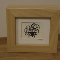 Sheep mini (wood effect frame)