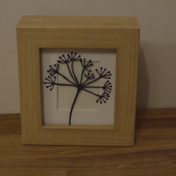 Large seed head cow parsley mini (wood effect frame)