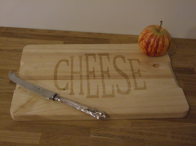 Hevea wood cheese board (CHEESE)
