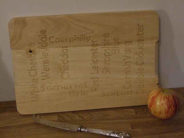 Hevea wood cheese board