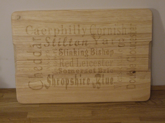 Hevea wood cheese board (large)
