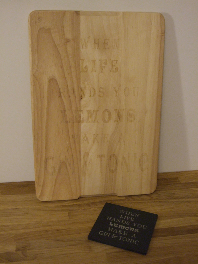 Hevea wood cheese board (when life hands you lemons...)