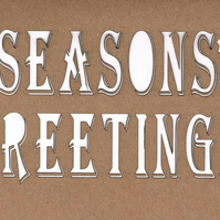 Seasons Greetings card (with red backing paper)
