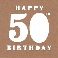 Birthday Card 50th
